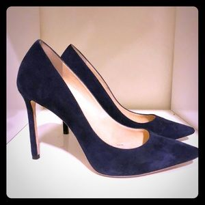 JIMMY CHOO ROMY 100mm Navy Suede Pump